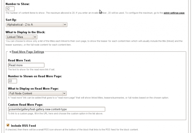 Featured content block configure 2