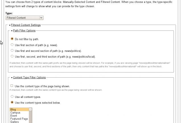 Featured content block configure 4